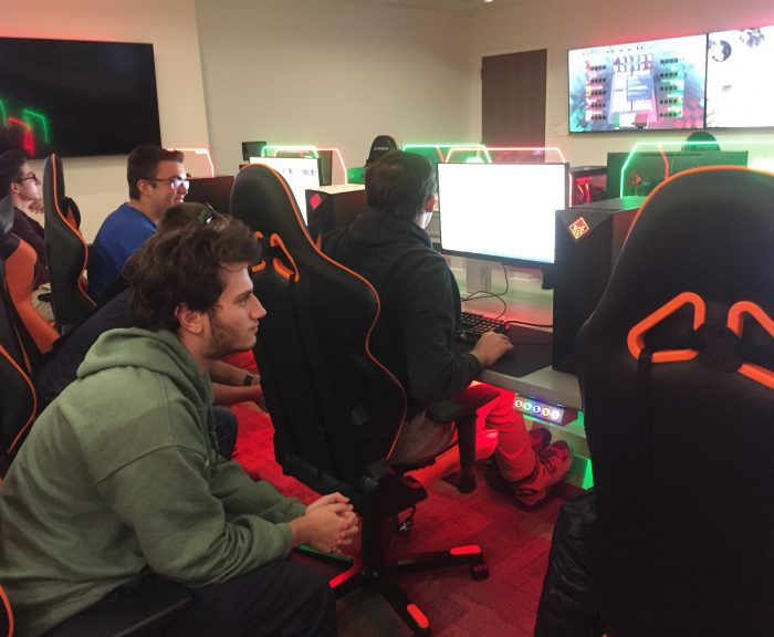 students in esports room