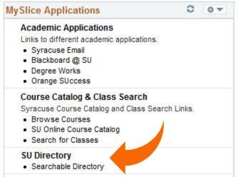 MySlice Applications menu