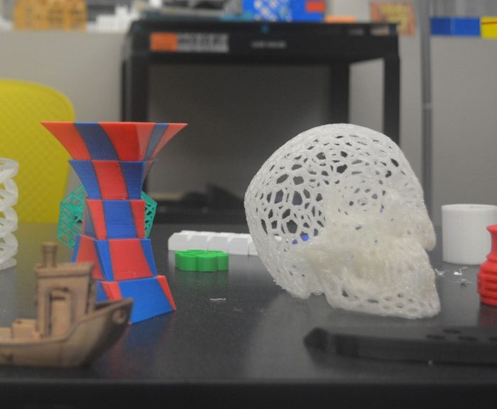 Objects created at the MakerSpace